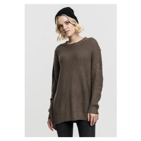 Ladies Basic Crew Sweater - army green Urban Classics