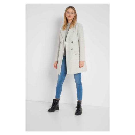 Dvouřadý kabát se vzorem Orsay