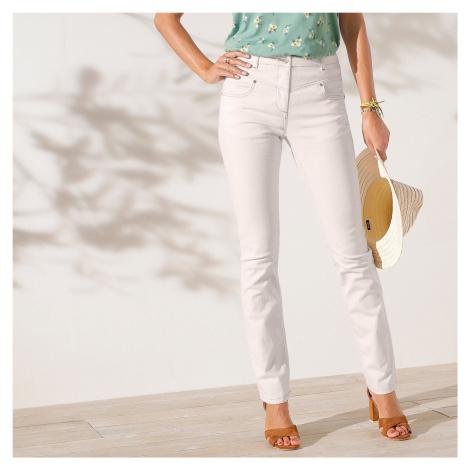 Blancheporte Rovné džíny, ekologicky vyrobené režná