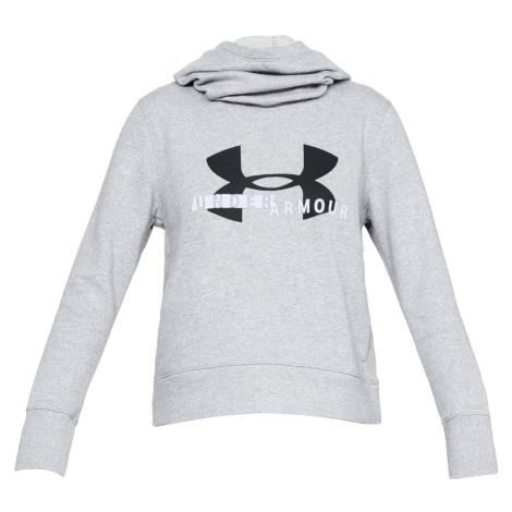 Dámská mikina Under Armour Fleece Sportstyle Logo Hoodie Šedá / Černá