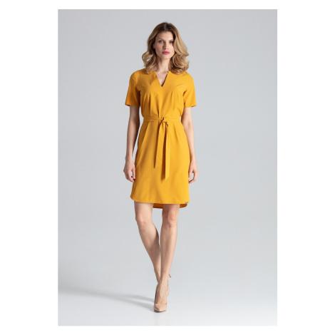 Figl Woman's Dress M669 Mustard