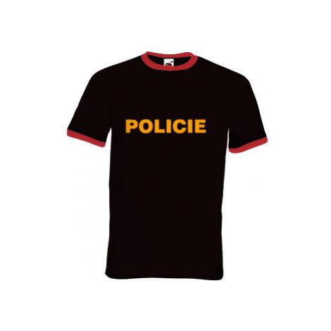 Pánské tričko s kontrastními lemy Policie