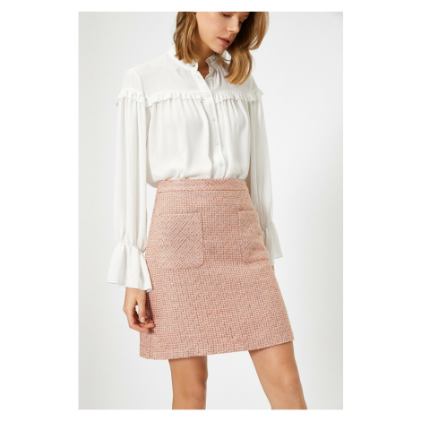 Koton Tweed A Cut Skirt