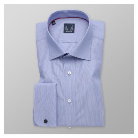 Pánská košile Slim Fit modré barvy s pruhovaným vzorem 11383 Willsoor