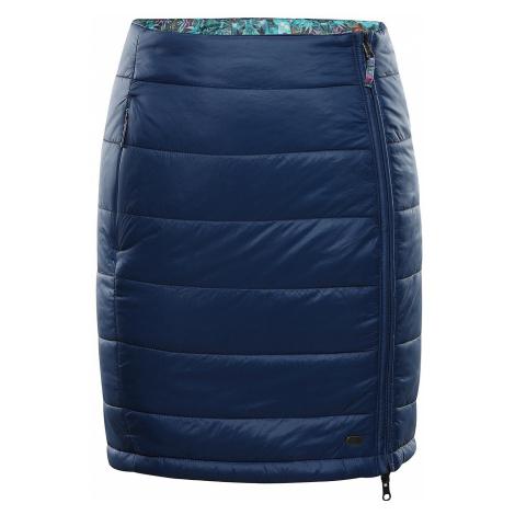 Dámská zimní oboustranná sukně Alpine Pro TRINITY 7 - tmavě modrá