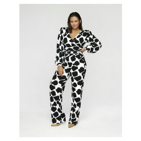 Madnezz Woman's Jumpsuit Helena Mad593 Black/White