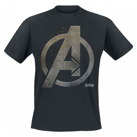Avengers Steel Logo Tričko černá