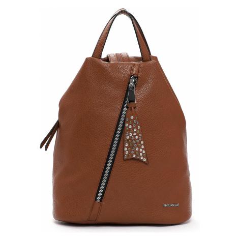 Elegantní dámský batoh Emily & Noah Nicol - koňak