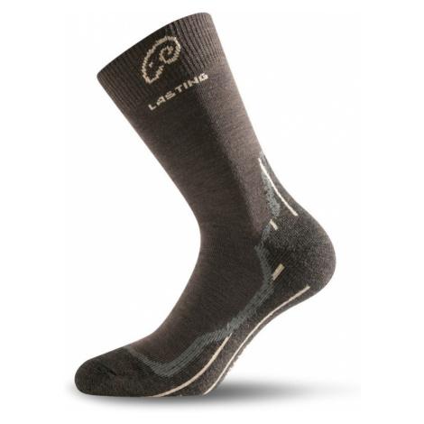 Ponožky Lasting WHI 70% Merino - hnědé