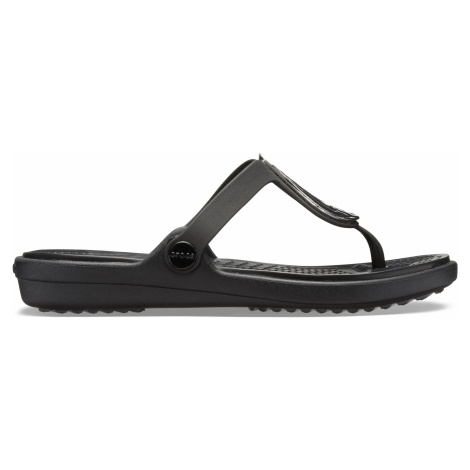 Crocs Sanrah Liquid Metallic Flip W Silver/Black W6