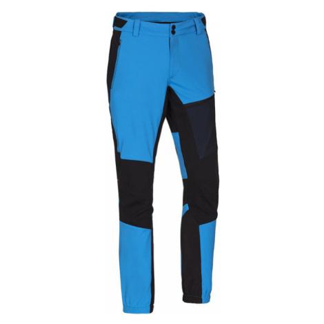 NORTHFINDER RODREGO Pánské softshellové kalhoty NO-3552SNW282 modrá-černá