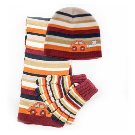 Pletená čepice a šála, Pidilidi, PD373, kluk