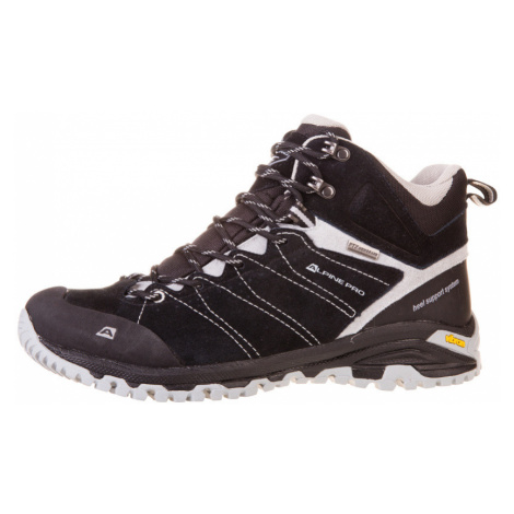 ALPINE PRO TRIGLAV MID Uni outdoorová obuv UBTF033990 černá