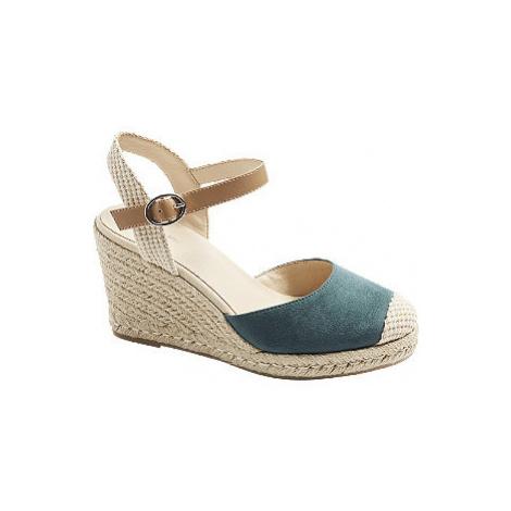 Modré sandály na klínku Graceland
