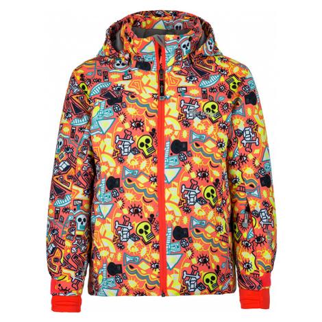 Dětská zimní lyžařská bunda KILPI GENOVESA-JG oranžová