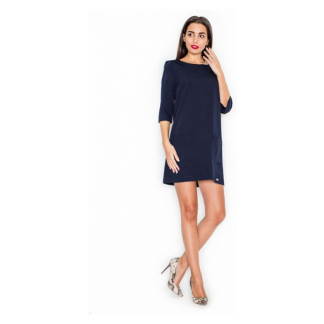 Dámské šaty Katrus K316 granátové | modrá
