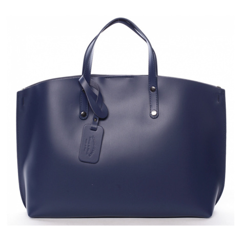 Modrá kožená kabelka do ruky ItalY Jordana