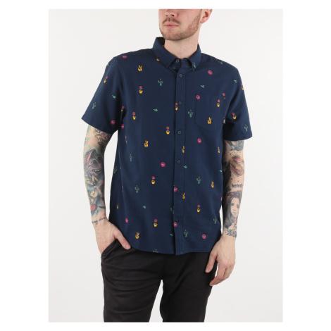 Košile Vans Mn Houser Ss Strange Vacatio Modrá