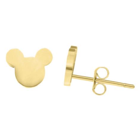 Troli Designové pozlacené náušnice Mickey Mouse