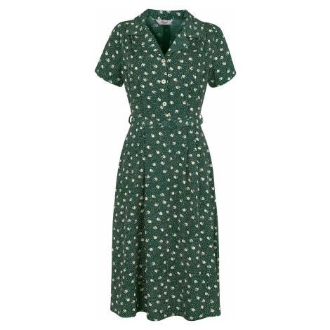 Banned Retro Šaty Lady Pearl Šaty zelená