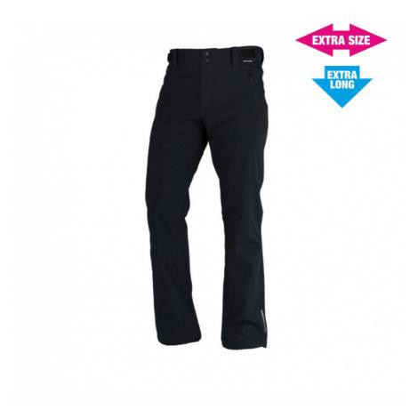 NORTHFINDER GERONIL Pánské 3L softshellové kalhoty EXTRA LONG+SIZE NO-3555LOR269 černá