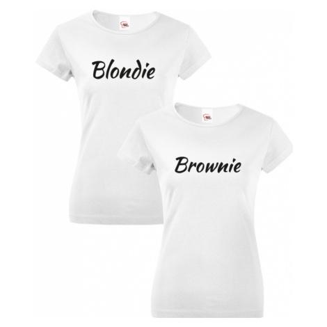 Dámská BFF trička Blondie a Brownie - stylová trika pro kamarádky BezvaTriko