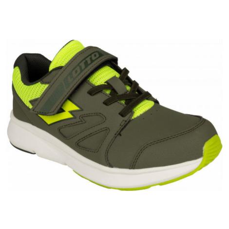 Lotto SPEEDRIDE 601 V CL SL tmavě zelená - Juniorská volnočasová obuv