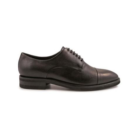 Leonardo Shoes 4688 BOTTOLATO NERO I Černá