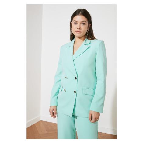 Trendyol Mint Button jacket
