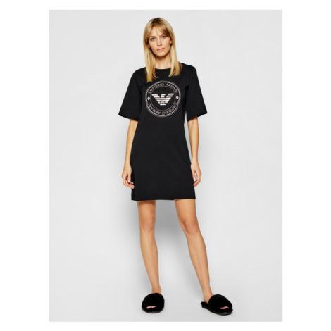 Dámská noční košilka 164456 1P255 00020 černá - Emporio Armani