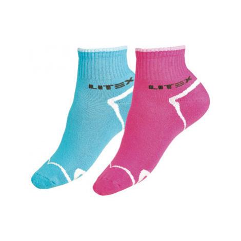 Sportovní ponožky polovysoké Litex 99634 | růžová