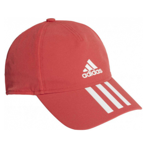 adidas AEROREADY BASEBALL CAP 3S 4THLTS červená - Sportovní kšiltovka