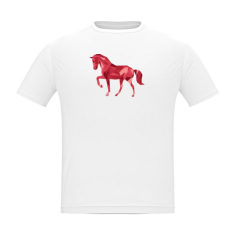 Pánské tričko Classic Heavy Kůň z polygonů