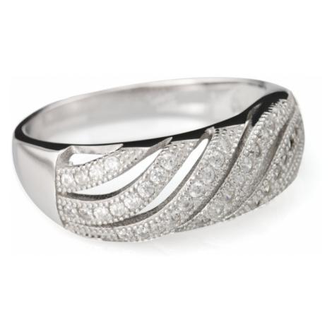 Linda's Jewelry Stříbrný prsten Elegance Vlnka IPR031 Velikost: 52