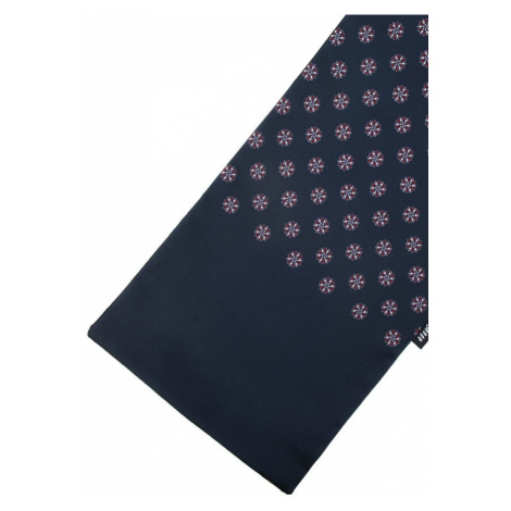Pánská společenská šála - elegantní vzor, tmavě modrá Avantgard