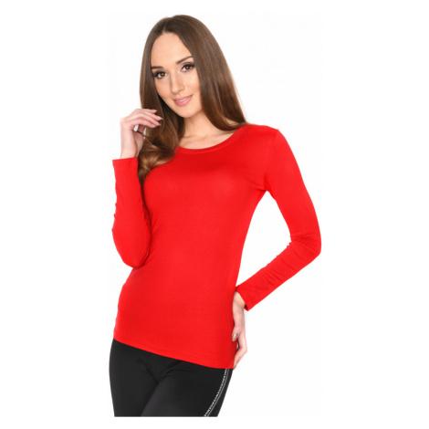 Červené tričko s dlouhým rukávem Oxyd