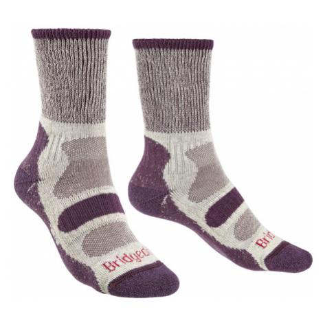 Ponožky Bridgedale Hike Lightweight Boot Cotton Cool Comfort Women's plum/350