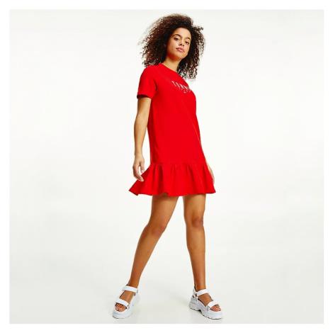 Tommy Jeans dámské červené šaty Tommy Hilfiger