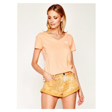 Tommy Jeans dámské oranžové tričko Tommy Hilfiger