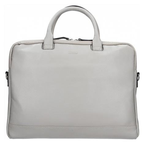 Dámská kožená taška na notebook Katana Emma - šedá