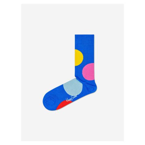 Jumbo Dot Ponožky Happy Socks Modrá