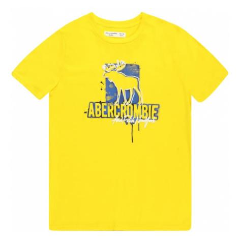 Abercrombie & Fitch Tričko žlutá / modrá / bílá