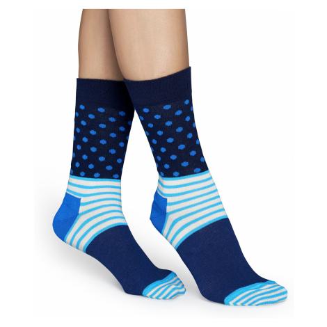 Modré ponožky Happy Socks se vzorem Stripe Dot