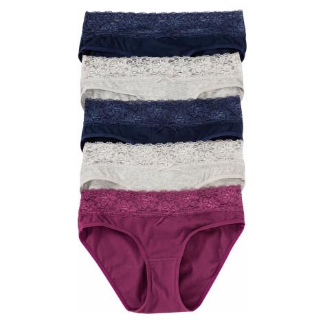Kalhotky s krajkou (5 ks v balení) Bonprix