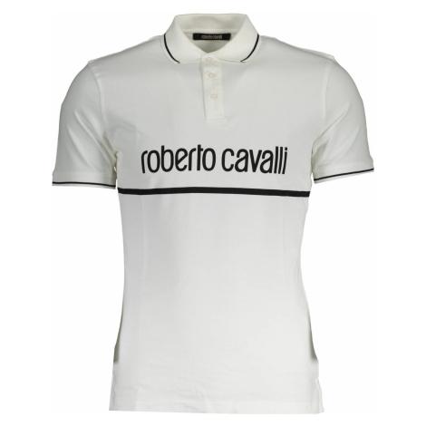 ROBERTO CAVALLI polokošile s krátkým rukávem Barva: BIANCO