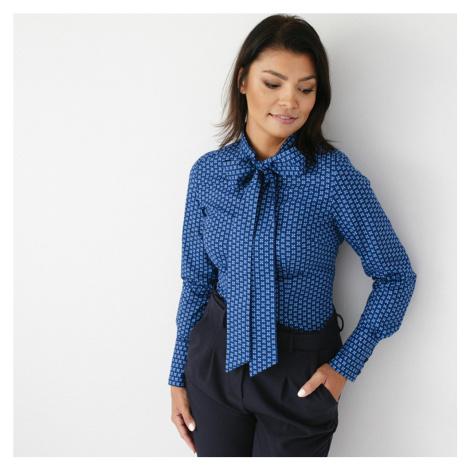 Dámská košile s mašlí modrá 9692 Willsoor