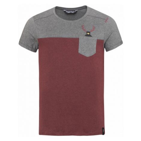 Pánské tričko Chillaz Street Hirschkrah anthracite melange/black
