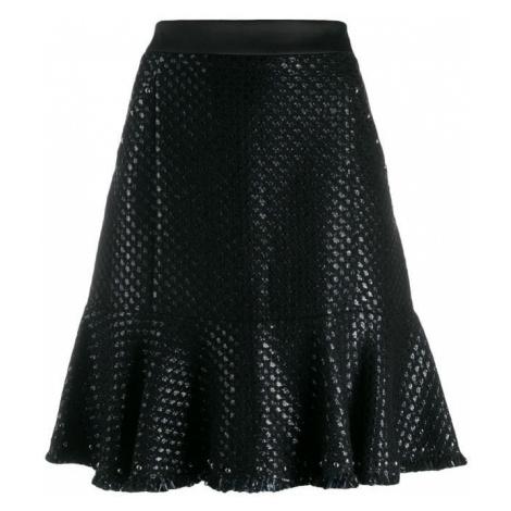 Sukně Karl Lagerfeld Karl'S Treasure Boucle Skirt - Černá