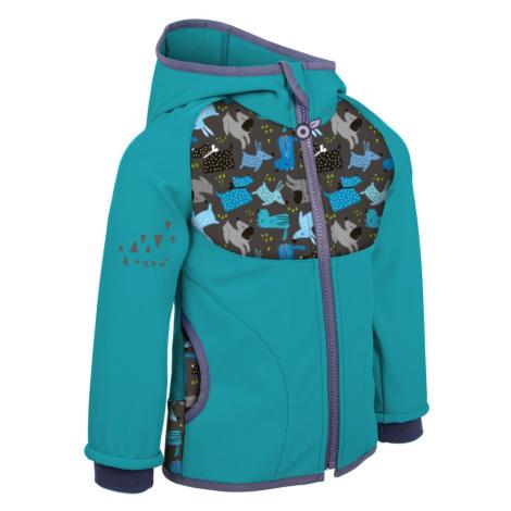 Dětská softshellová bunda s fleecem Unuo vzor Dětská
