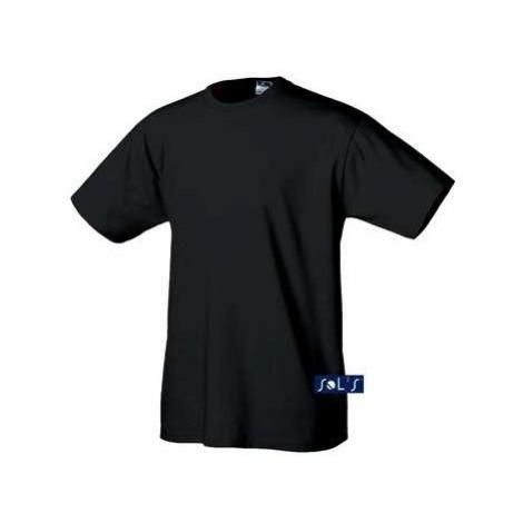 Jednobarevné černé tričko Sols - pánské